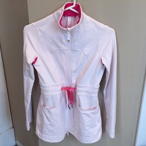 Lululemon pink zip up jacket